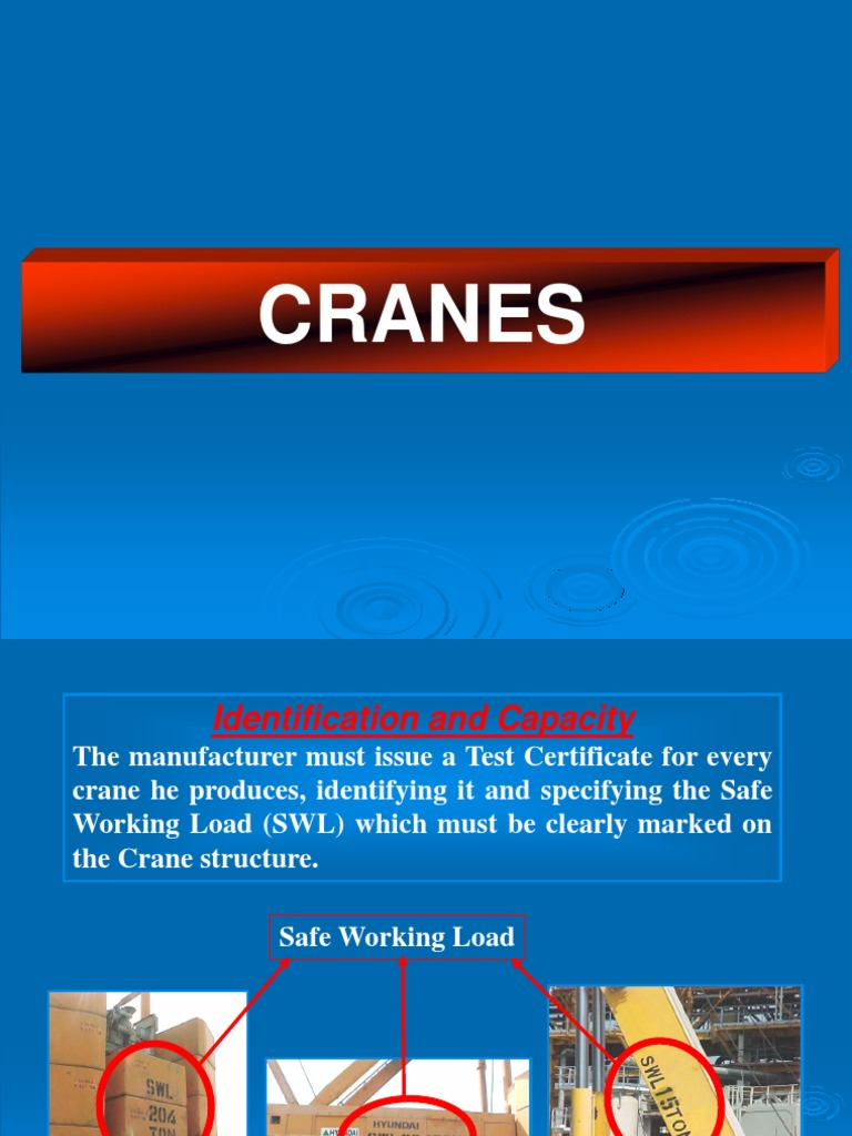 Cranes introduction ppt | Crane (Machine) | Switch