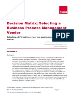 2011 BPM Decision Matrix