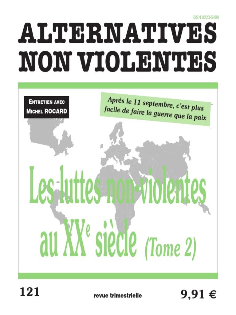 Non Violence Xxi | Résistance française | Résistance au ... Non Violent Resistance Pdf