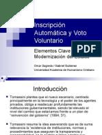 inscripcion voluntaria y voto automatico - gabriel gutierrez y omar sagredo