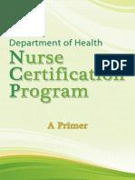 DOH Nurse Certification Program Primer