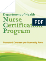 DOH Nurse Certification Program Standard
