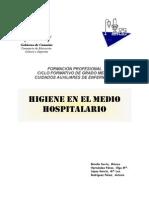 Hig. Higiene en El Medio Hospitalario