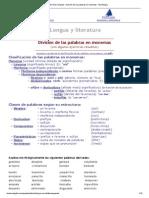El Velero Digital - División de las palabras en monemas - Morfología