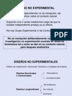 diseños no experimentales