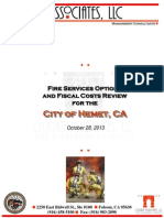Hemet Fire Services Final Report