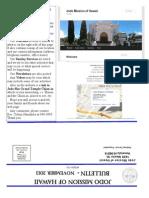 Jodo Mission Bulletin - November 2013