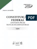 Weslei Machado e Marcos Carvalhedo - Constituição Federal - Anotada pela Bancas Examinadoras - CESPE - Ano 2010