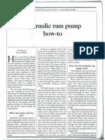 Hydraulic Ram Pump How-To