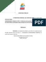 Concurso Público - Ato de homologacao de Hiporssuficiência - INSCRIÇÕES INDEFERIDAS III