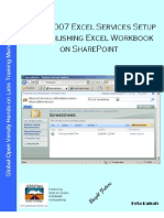 MOSS 2007 Excel Services Setup & Publishing Excel Workbook on SharePoint