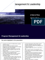 Program Management & Leadership