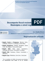 Lic. Claudia Alvarez - Desempenio Fiscal Reciente de Los Municipios a Nivel Regional