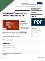 Mexico Security Memo