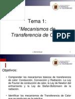 Tema 1. Mecanismos de Transferencia de Calor