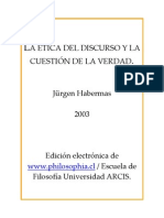 HABERMAS - La Etica Del Discurso y La Cuestion de La Verdad