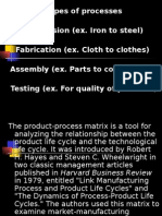 Types of Processes Conversion (Ex. Iron to Steel) Fabrication (Ex.