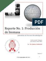 Reporte 1 Producción de biomasa