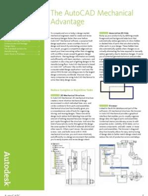Autocad Mechanical 2007 Product Detail | Auto Cad | Autodesk