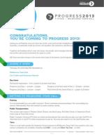 Progress 2013 Participant Pack