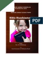 KVSS NI 2013 - NAUPANG THUPUI - Bible humhimtute