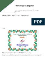 VENCER EL MIEDO – 2 Timoteo 1_7 _ Mission Venture Ministries en Español