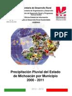 Precipitacion Pluvial en El Estado de Michoacan 2000-2011