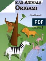 African Animals in Origami