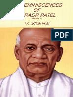 My Reminiscences of Sardar Patel by V. Shankar (Vol 1)