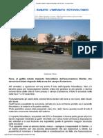 8 11 2012 Fanoinforma Furto dell'impianto fotovoltaico dell'Associazione Osiride onlus