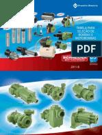 Catalogo de Bomba Schneider Tabela_selecao2011
