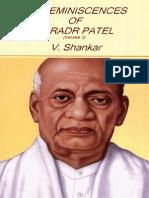 My Reminiscences of Sardar Patel by V. Shankar (Vol 2)