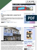 """Cotecaen Fr  Fermeture Du College Lemiere Pourquoi Caen dit """"Non"""""""