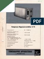 Telefunken U73 Datenblatt