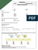 Be 6 Ano Matematica-Exercicios