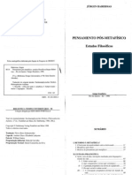 HABERMAS, J. Pensamento Pós-Metafísico - Estudos Filosóficos.pdf