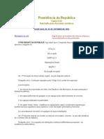 Lei Federal n° 8.245 de 18.10.91 - Locação de Imoveis Urbanos