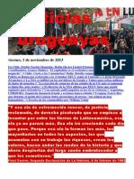 Noticias Uruguayas Viernes 1 de Noviembre Del 2013