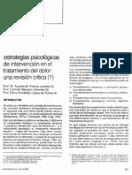 Cap. Estrategias Psicológicas en Dolor - Polaino