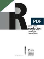 Curso-taller Resolución noviolenta de Conflictos