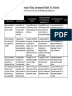 notation and reading student rubric