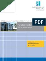 Nr 1 Schriftenreihe Kundenwertberechnung Inkl. Deckblatt