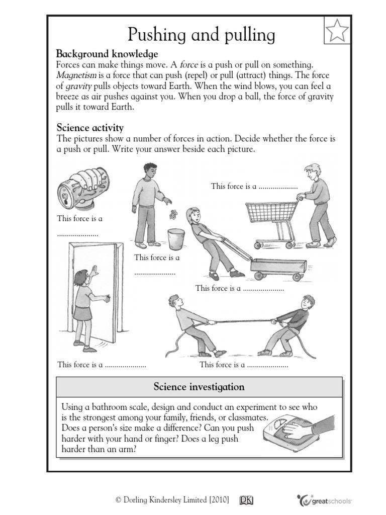 Push pull worksheet pdf Magnet