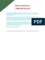 Lord Dunsany - Reseña Biografica