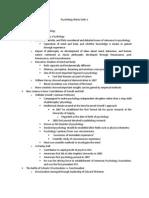 Psychology Notes Units 1