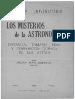 Misterios Astronomia Libro 1