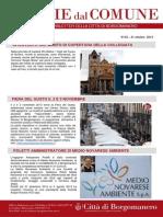 Notizie Dal Comune di Borgomanero del 31 Ottobre 2013