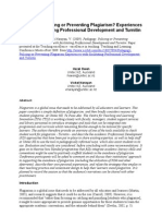 Pedagogy, Policing or Preventing Plagiarism? Experiences with facilitating Professional Development and Turnitin