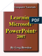 Learning Microsoft PowerPoint 2007