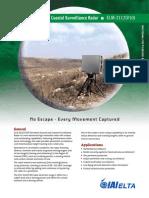 Persistent Ground & Coastal Surveillance Radar - ELM-2112(V10)